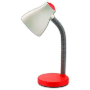 Lampa de birou 1xE27 rosu LBR27