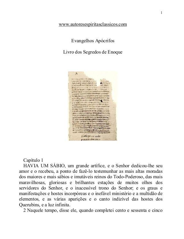 Evangelhos apócrifos   livro dos segredos de enoque by Everton de Jesus via slideshare