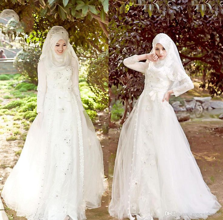Hijab gowns camo muslim long sleeves wedding dresses appliques beaded A-line arabic islamic plus size wedding gowns