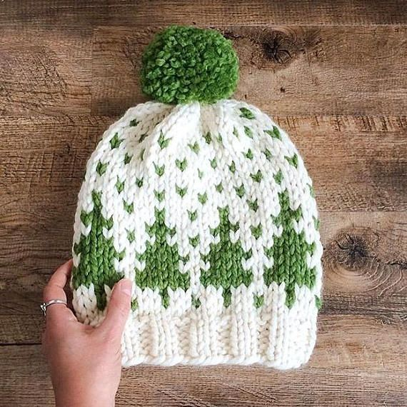 ** KNITTING PATTERN ONLY ** to knit a Timber Toque Sizes: Baby ages 1-4 (Child ages 5-10 , Adult ages 11 and on ) Skill level: Intermediate Materials, notions, and useful things you will need: 2 balls of Lion Brand Wool Ease Thick and Quick yarn in contrasting colors or any
