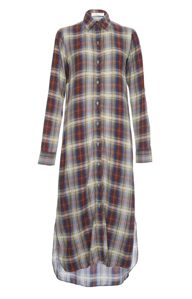 CHEQUERED SHIRT DRESS