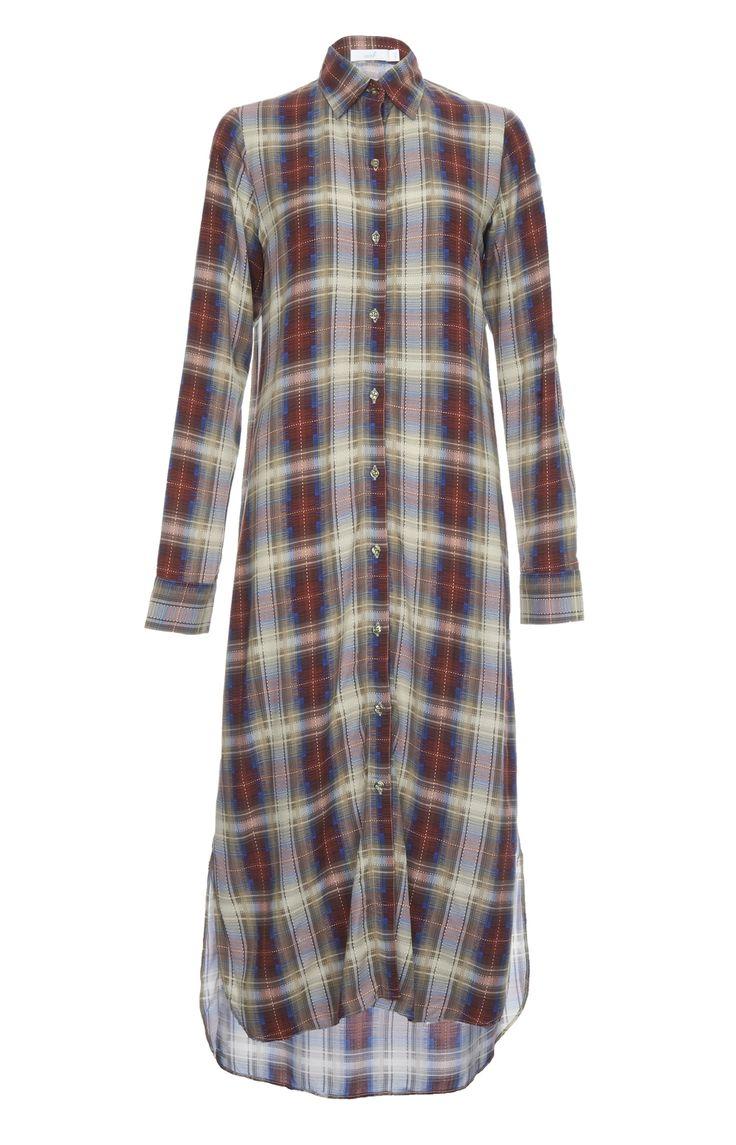 CHEQUERED SHIRT DRESS