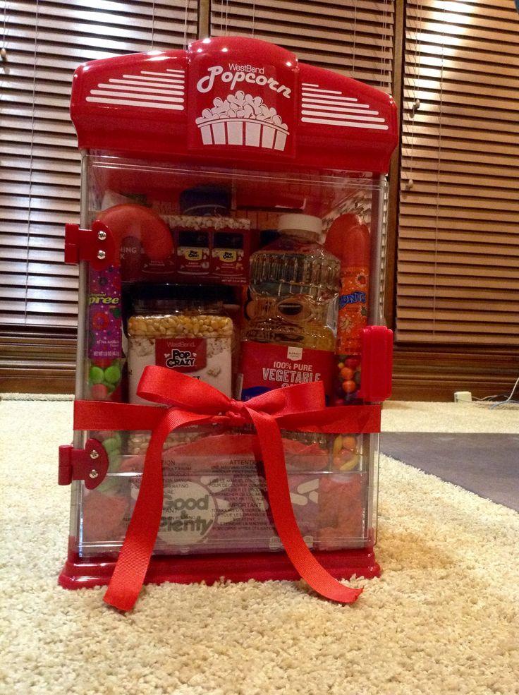Popcorn and Movie Night Raffle Basket Idea