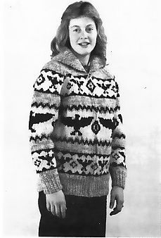 Buffalo 19, his or hers 30 to 44 inch chest. eagle design PDF Buffalo Knitting Patterns - buggsbooks.com