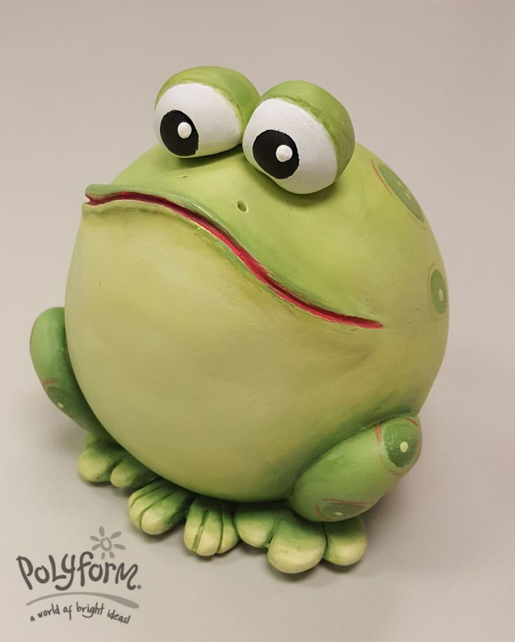 """This """"toadily"""" cute garden critter is sure to delight even the most dedicated """"city slicker""""! The designer is also an expert painter, so she will take you through the steps to finish paint the frog to bring him alive on your worktop. Design byLinda Hollander"""