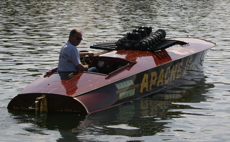 Apache II 1922 29′ Hackercraft Gentlemen's Race Boat. Liberty WWI V12 engine