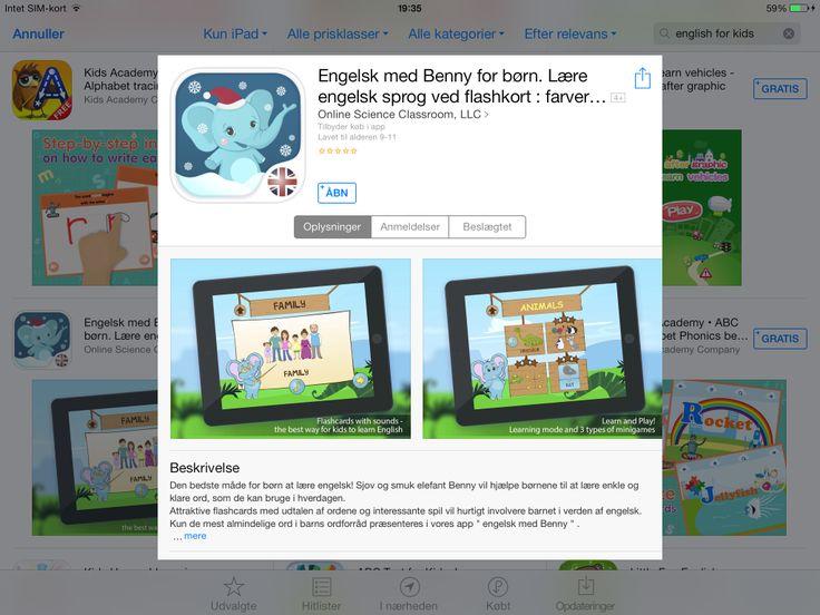 App med flashkort til engelsk