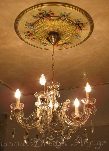 Ζωγραφική οροφής σε σαλόνι οικίας