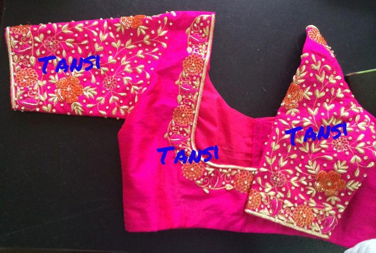 Embroidered blouse by Tansi!