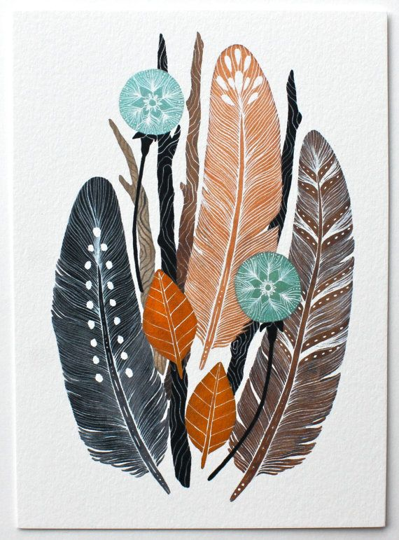 Nature Collection Painting - Watercolor Art - 8x10 Archival Print. $24.00, via Etsy.