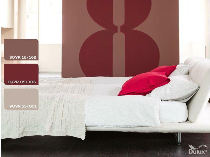 #dulux #homedecor #grey #red #bordeaux #colourtrend #paint