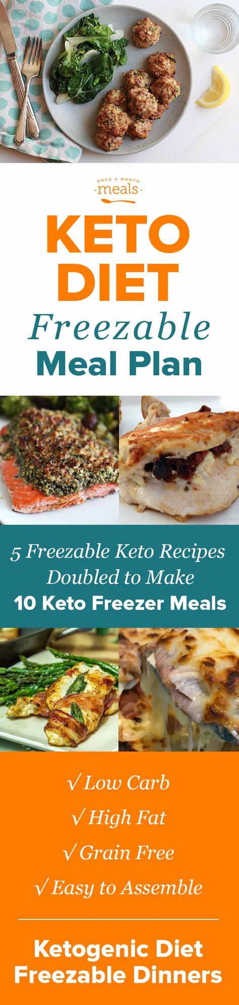 Our Keto Easy Assembly Mini Menu provides you with delicious and easy keto freezer meals that will save you time this holiday season. Savor our Sun Dried Tomato Goat Cheese Chicken and Pecan Crusted Salmon while you stay on your diet! #keto #LowCarb