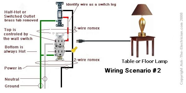 wiring with switch attached to outlet bedroom in 2019. Black Bedroom Furniture Sets. Home Design Ideas