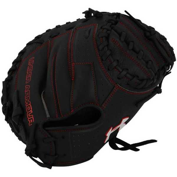 Under Armour ADULT Framer Series Catchers Baseball Glove, Black/Red. UACM-100