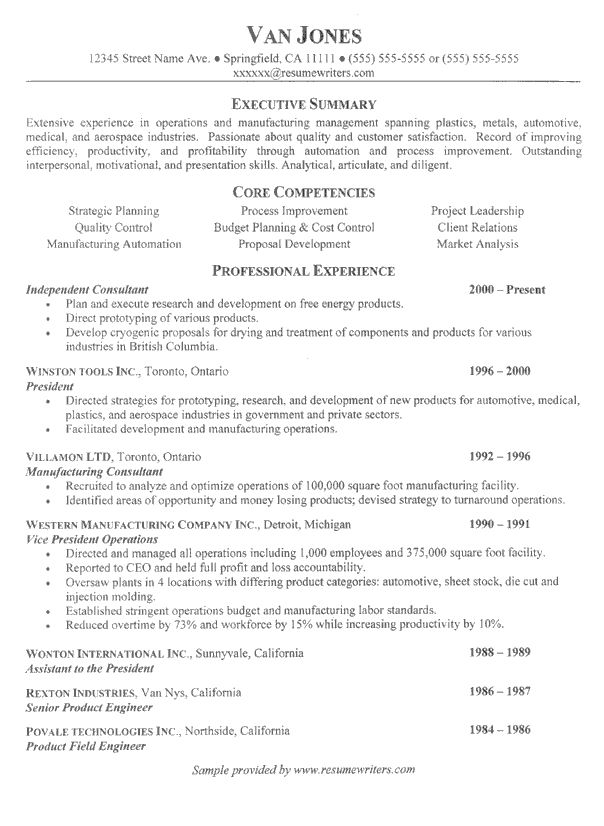 Consultant Resume example that uses the Chronological Resume Format. The Chronological Resume Format is perferred by hiring managers and is a good layout option for a consultant resume.
