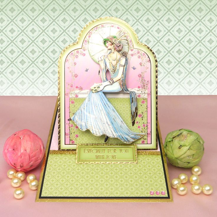 Card made using the Deco Dreams Luxury Topper Set from the Deco Delights Collection