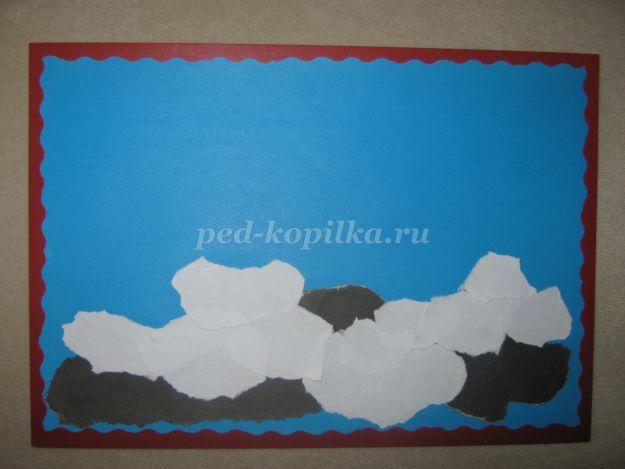 Объемная аппликация из бумаги Подснежники для детского сада