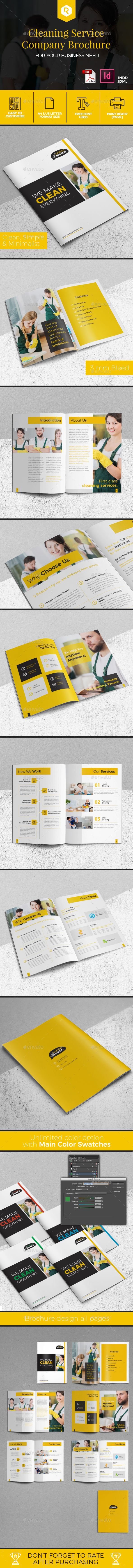 Cleaning Service Company Brochure — InDesign INDD #business #apartment cleaning • Available here → https://graphicriver.net/item/cleaning-service-company-brochure/19578071?ref=pxcr