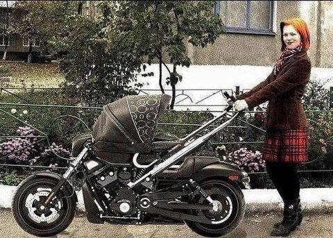 biker baby buggy