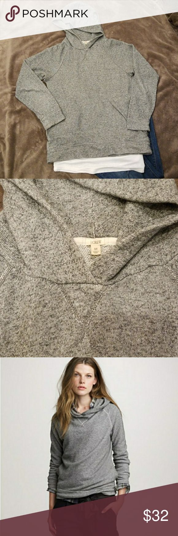 """J. CREW Haya Pullover Hoodie J. CREW Haya Pullover Hoodie Pockets on sides Size M Casual & comfortable hoodie Good pre-owned condition  From J. CREW Site: Haya, meaning """"quick and light"""" in Japanese, perfectly describes the fabric of this hoodie—a luxuriously soft and lightweight Japanese terry cotton crafted into a casually chic, throw-on-and-go piece. J. Crew Tops Sweatshirts & Hoodies"""