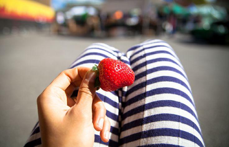 Simple raw ingredients: organic strawberry