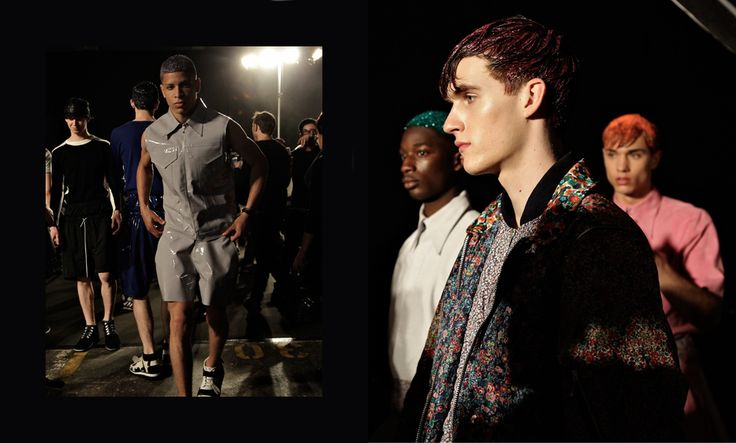 Backstage at Christopher Shannon SS14