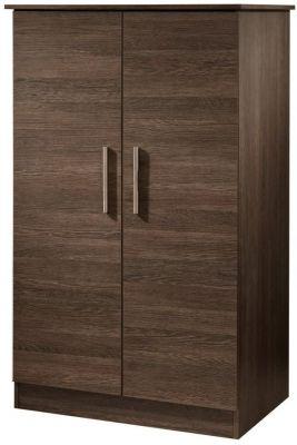 Contrast High Gloss Wardrobe - 2ft 6in Plain Midi