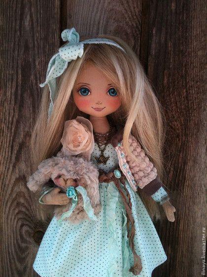 Дашенька - морская волна,кукла ручной работы,кукла,кукла интерьерная,кукла текстильная