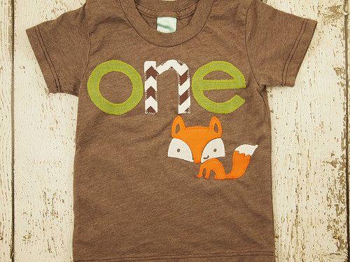 Fox shirt woodland themed birthday shirt toddler tee forest animal boys girls…
