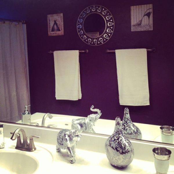 Badezimmer Deko Flieder Purple Bathrooms Bathroom Decor