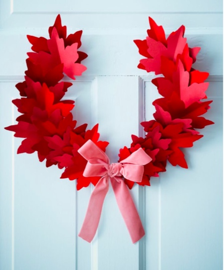 Paper Holiday Decorations by Sarah Hartill for Canadian House & Home.