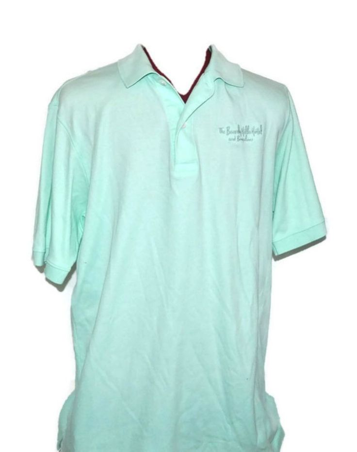 The BEVERLY HILLS HOTEL & BUNGALOWS Polo Shirt Small Mens