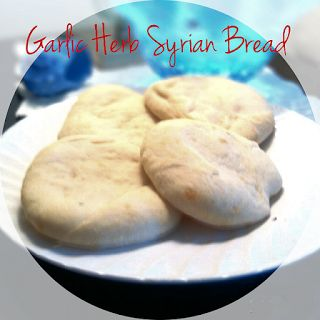 Garlic Herb Syrian Bread A flavorful middle eastern bread, a recipe from Seduction in the Kitchen