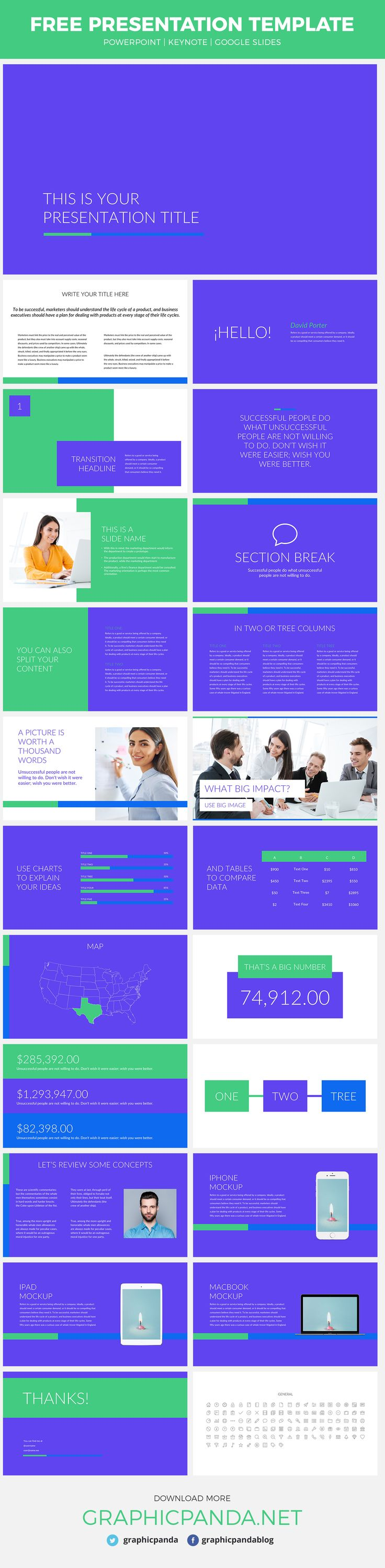 The Business Pro Free Template is the tool you are looking for if you are interested in presenting your company's product to any kind of audience. Its professional slides can be used as Google Slides, Keynotes, and Powerpoint formats. Each of one of the Business Pro's slides will give you the best schemes that you need to present your products and persuade your listeners. Using this template will help you and your company reach the desired goals.