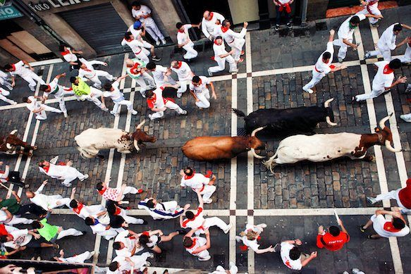 Pamplona, Spain.  Sam wants to run with the bulls...  I will take pictures. :)