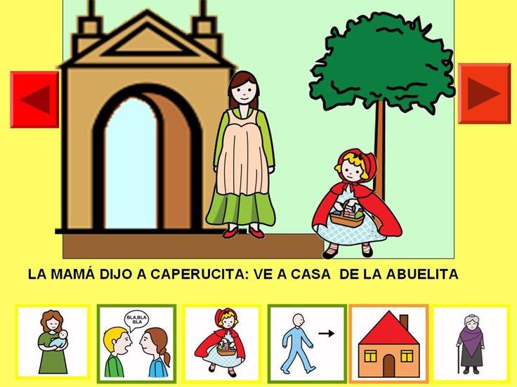 Cuento de Caperucita Roja con pictogramas.