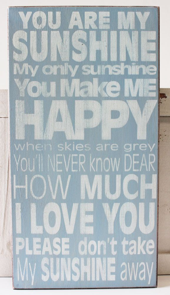 You Are My Sunshine Wood Block Sign - Popular Quotes and Sayings - California Seashell Company Exclusive Sign - #californiaseashellcompany, #caseashells, #youaremysunshine