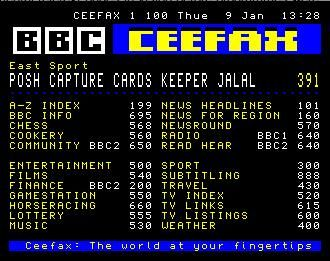 Ceefax - Precursor to the internet! Only totally infuriating!!!