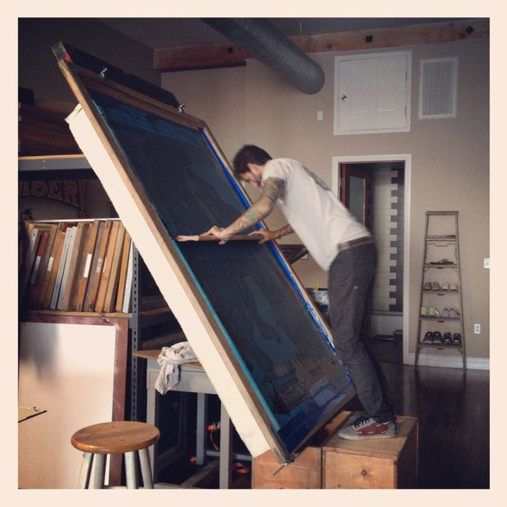 large hand pulled print - i miss this stuff :: HUGS the gigantic hand screen print :: by Timber!