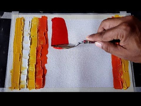Abstract Painting / Using Rubber Squeegee And Palette Knife