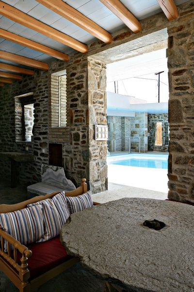 Experience #vacation in a rental villa with island style and discreet luxury in Tinos Habitart http://www.tinos-habitart.gr/yellow-house.php