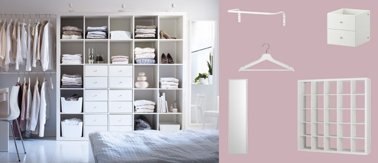 Another Option for my bedroom...EXPEDIT white shelving unit with drawers and open storage compartments