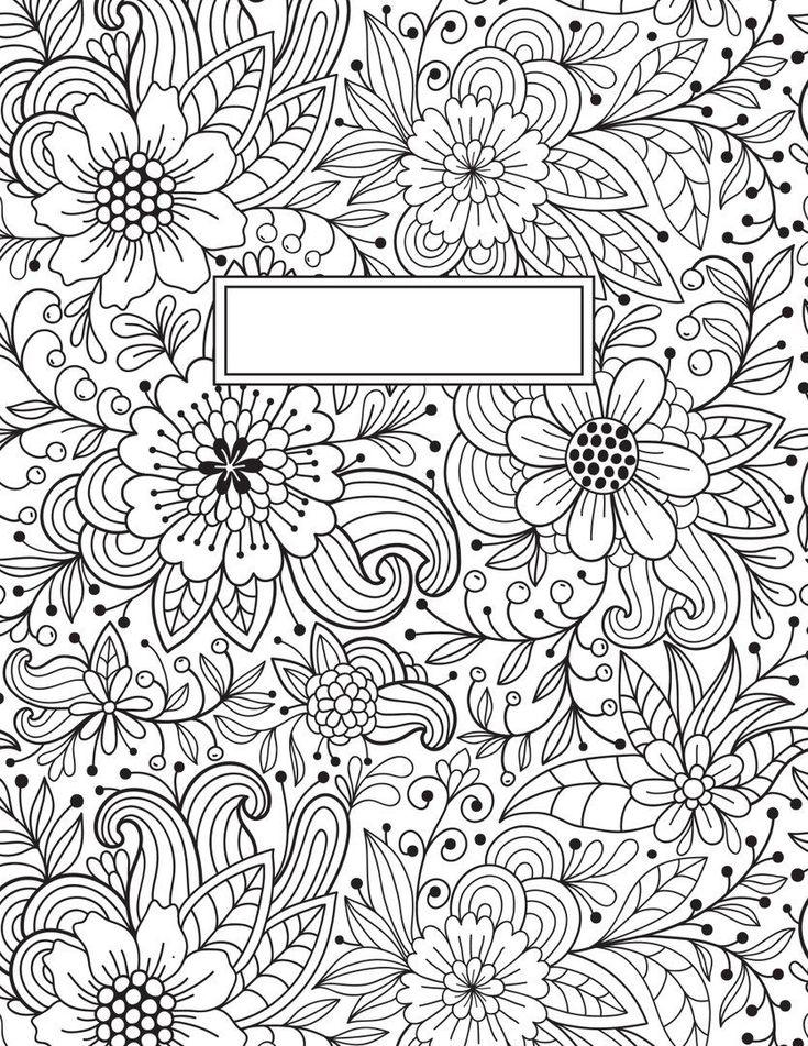 Раскраска для обложки личного дневника