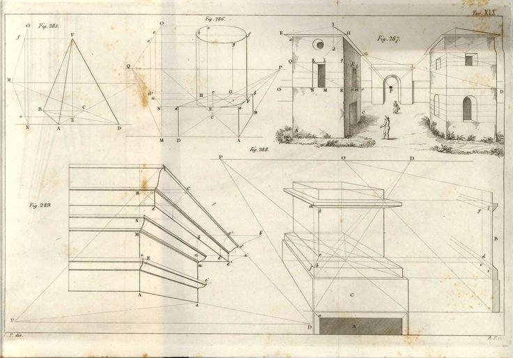 Costruzione di prospettive di corpi solidi #geometria #geometriaapplicata #disegno #scultura #architettura #prospettiva #fuga #illustrazione