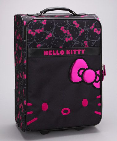 Take a look at this Pink & Black Hello Kitty Suitcase by Hello Kitty on #zulily today!