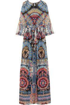 Temperley London Merida printed silk-georgette maxi dress | NET-A-PORTER