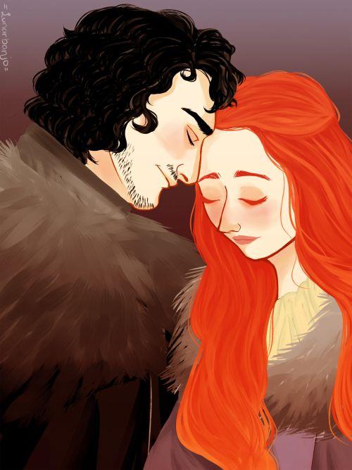 Jon Snow and Sansa Stark fan art