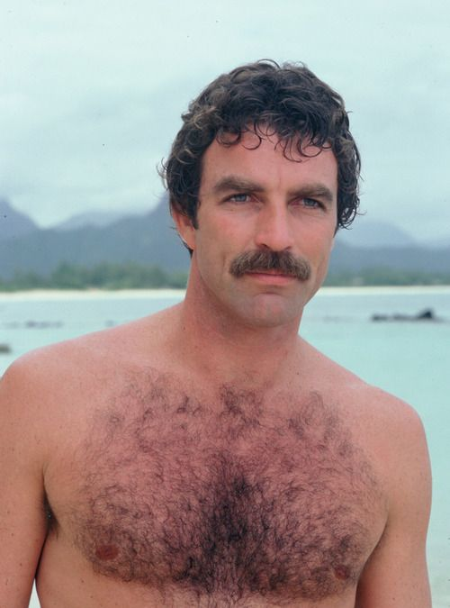Tom Selleck looks good with chest hair…unfortunately, you do not. Laser hair removal available at our office.