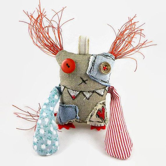 Silly Monster, Small Fantasy Doll, Gift for Him