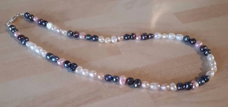 Classic Freshwater Pearls Necklace - White/Pink/Peacock Pearls - Feminine Pearls Great for All Occasions by semelesparlour on Etsy